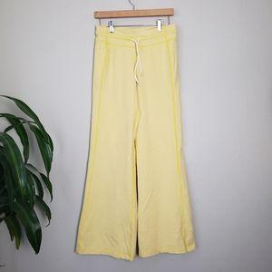 Lululemon Wide Leg Fleece Pant Yellow